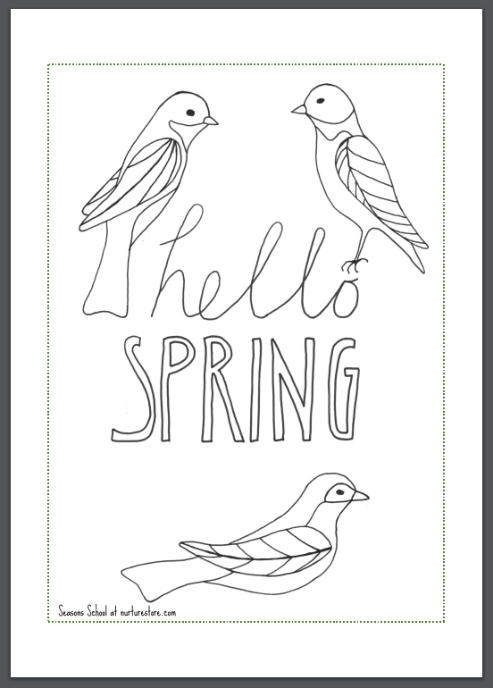 Spring coloring sheets printables for children - NurtureStore