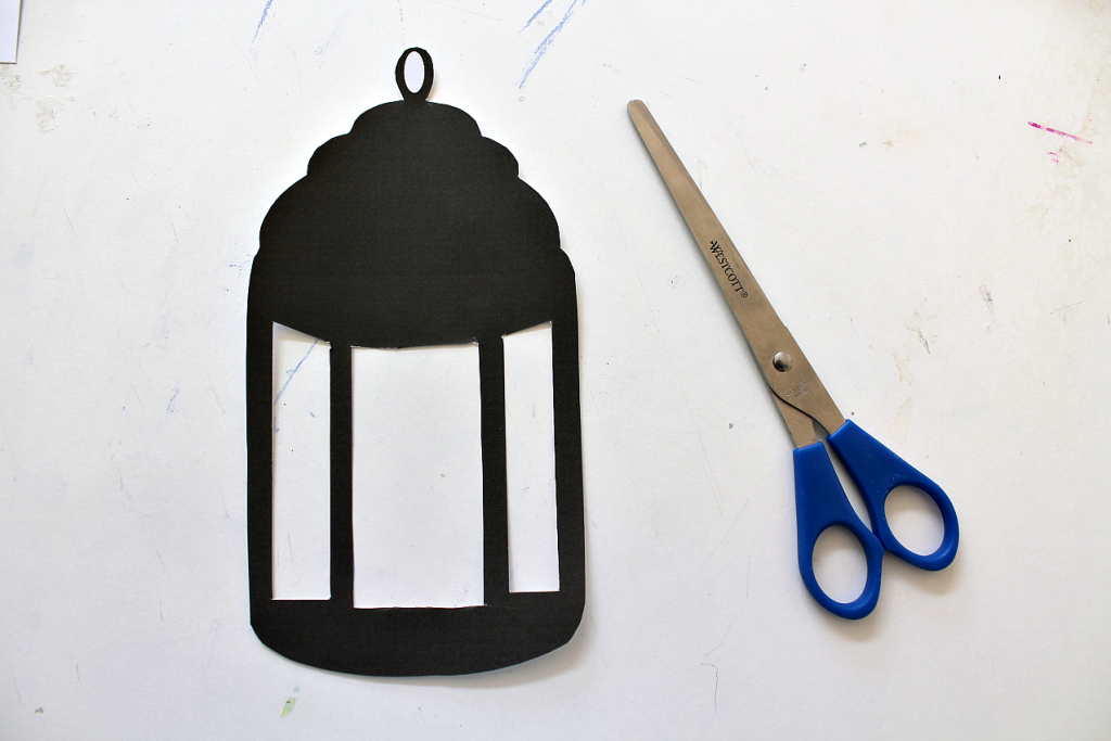 photograph regarding Lantern Template Printable known as Ramadan lantern craft with template - NurtureStore
