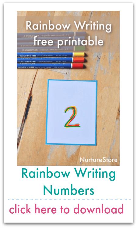 rainbow writing numbers
